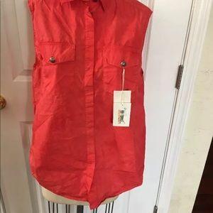 Tops - Pierre Balmain Faded Washed Sleeveless  Shirt
